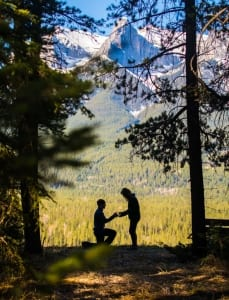 Proposal in Canmore, AB