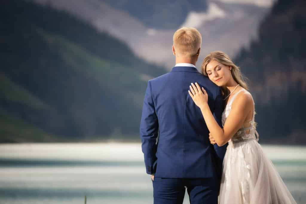 Lake Louise wedding portraits.