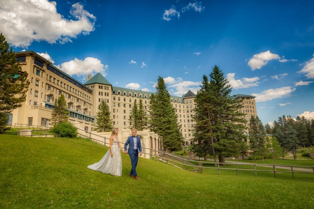 Lake Louise wedding photos by lake louise photographers, Burnett Photography at Fairmont Chateau Lake Louise
