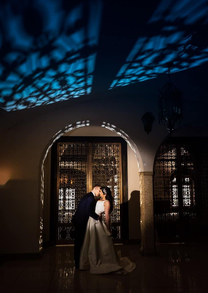 Banff Springs Hotel Wedding. Portraits by the Alhambra Ballroom. by Banff wedding photographers, Burnett Photography.