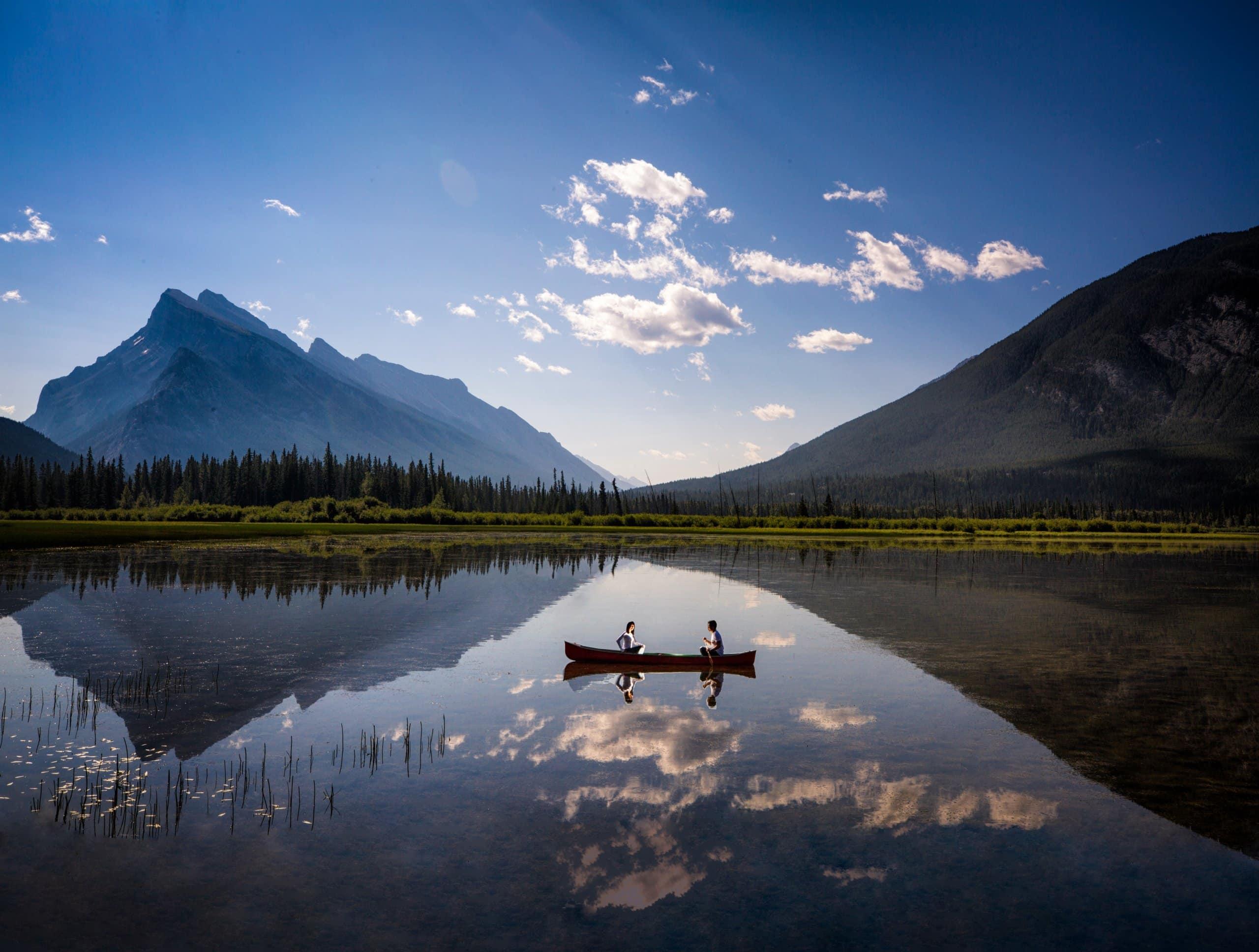 Banff photographers, engagement photography at Vermillion Lakes,Banff National Park