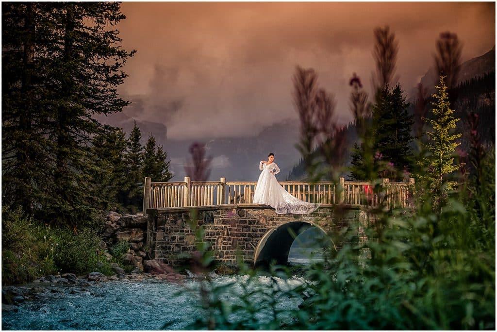 Smoky Skies over Lake Louise, Burnett Photography, Lake Louise wedding photographers