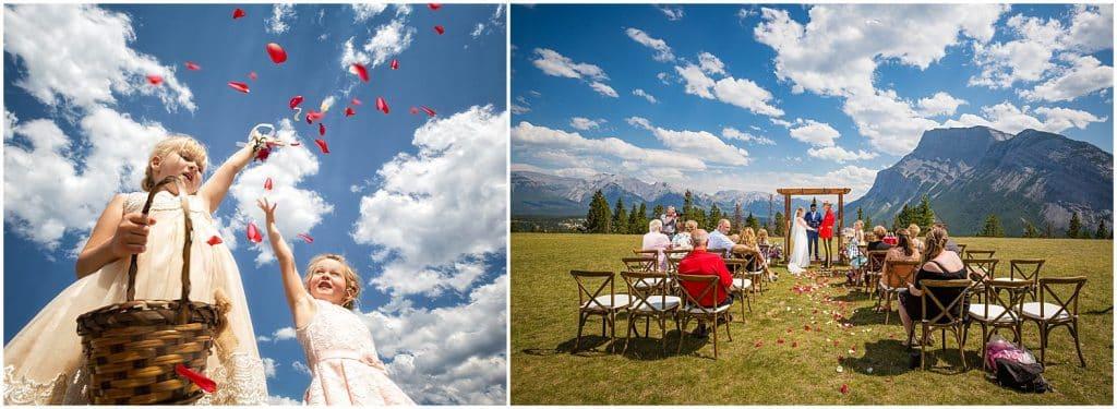 Banff wedding at Tunnel Mountain Resevoir, by Banff photographers, Burnett Photography
