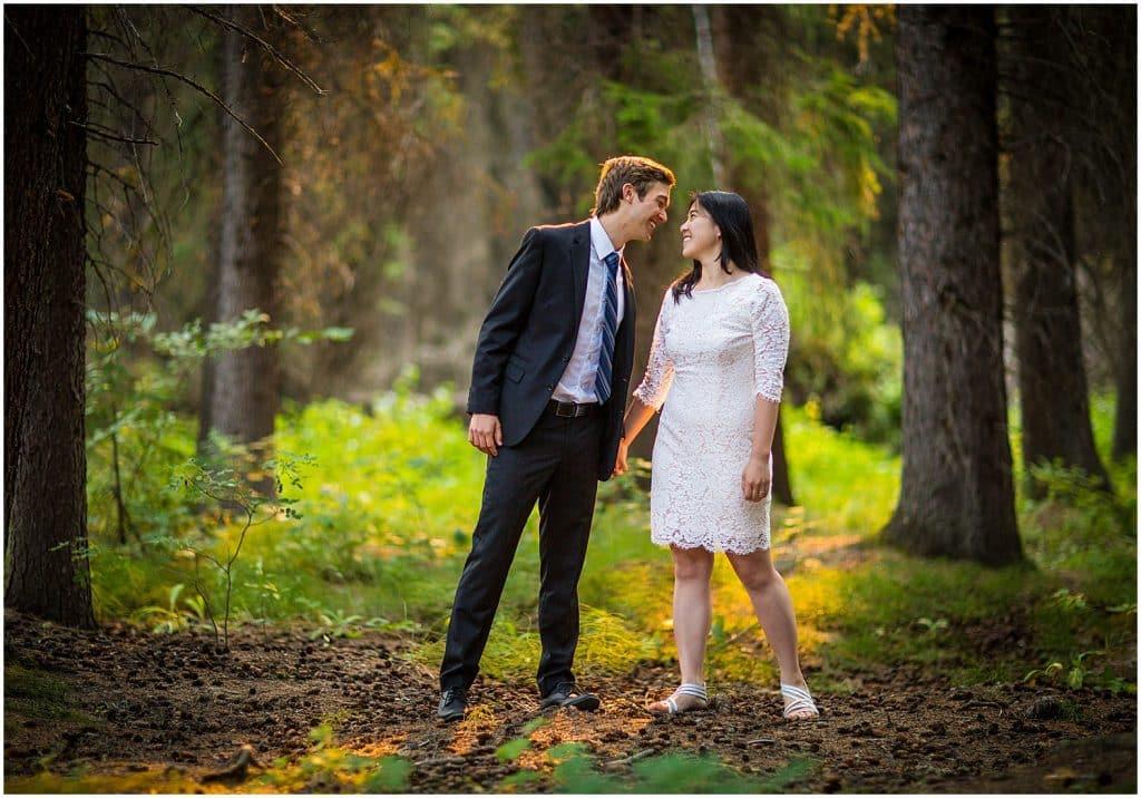 Banff elopement at Vermillion Lakes, by Banff wedding photographers, Burnett Photography